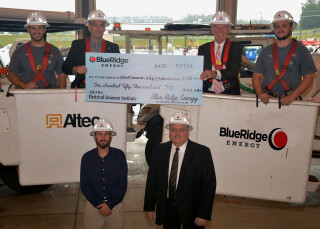 Blue Ridge Donation Helps CCC&TI with new Electric Lineman Training Facility